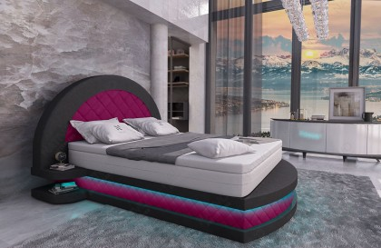 Set Lounge in rattan GROOVE giardino (5 pezzi) V1 NATIVO mobili Italia