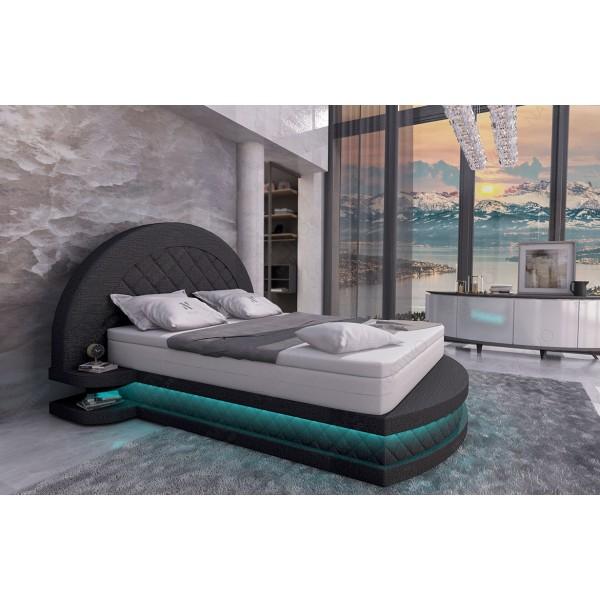Divano di design EDEN con tavolino e 2 pouf NATIVO mobili Italia