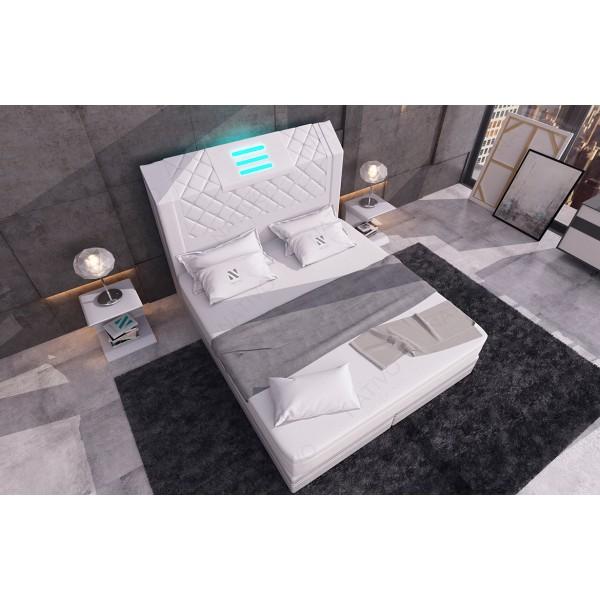 Divano di design ATLAS con pouf NATIVO mobili Italia