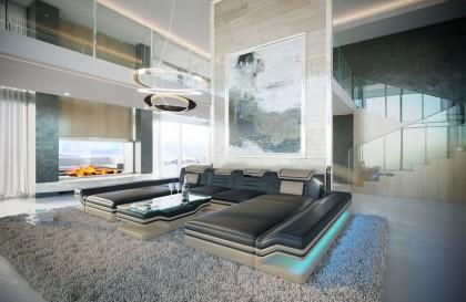 Divano di design BARCA 3+2+1 con funzione relax NATIVO mobili Italia
