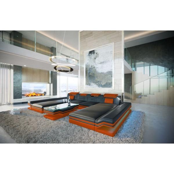 Divano di design BEACHO CORNER con portabevande NATIVO mobili Italia