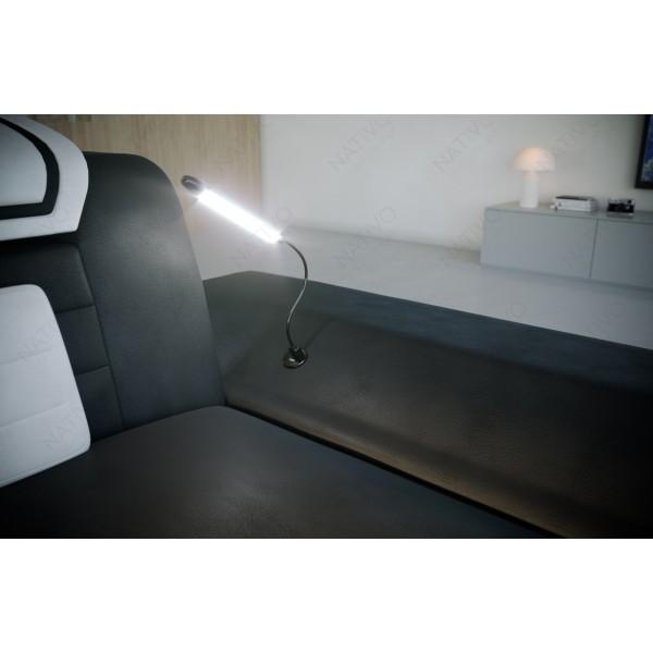 Letto imbottito LENOX con illuminazione a LED NATIVO mobili Italia
