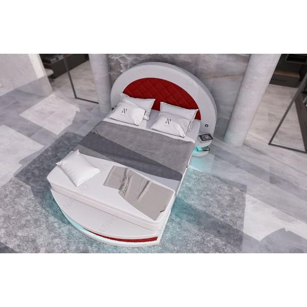 Letto imbottito MOON V2 con illuminazione NATIVO mobili Italia