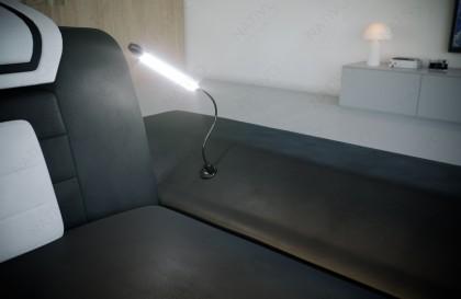 Letto imbottito COCO con illuminazione