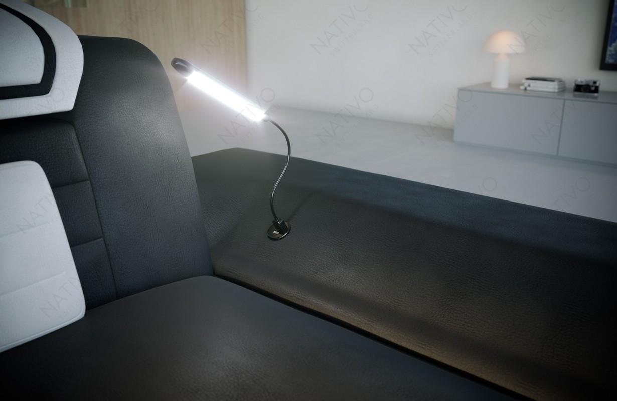 Letto imbottito COCO con illuminazione NATIVO mobili Italia