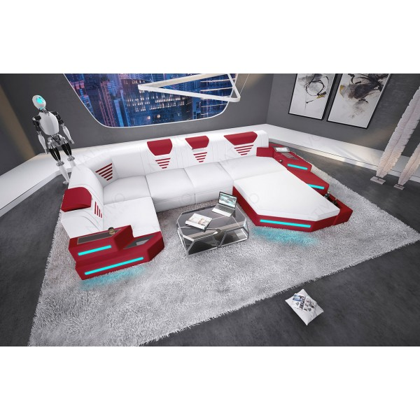 Divano di design CLERMONT XL con illuminazione a LED NATIVO mobili Italia