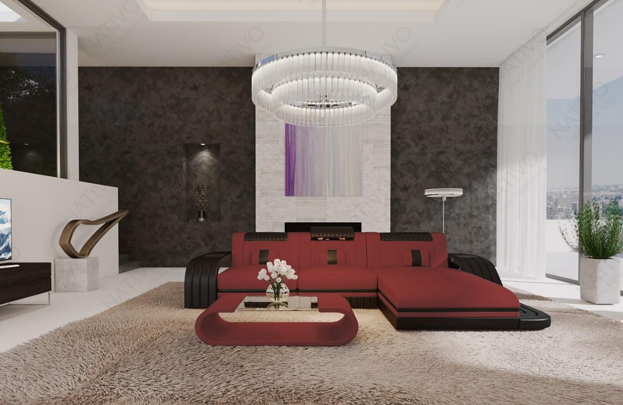 Mobile per il soggiorno royal corner a forma di l con led e usb nativo